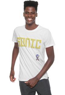 Camiseta Tectoy Sonic The Hedgehog Front Branca
