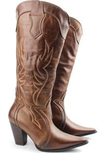 Bota Country Feminina F709 Tabaco Burned 33