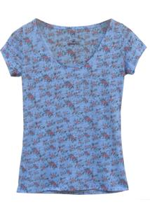 Camiseta Little White Tee Miniflowers Azul