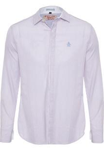 Camisa Masculina Listrada - Branco