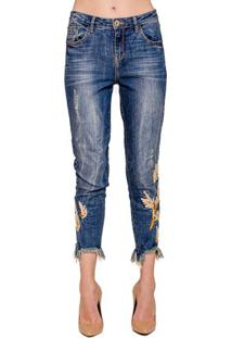 Calça Jeans Skinny Bordado Alphorria