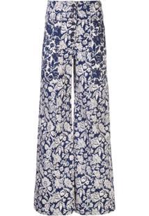 Ulla Johnson Calça Jeans Greer Com Estampa Floral - Azul