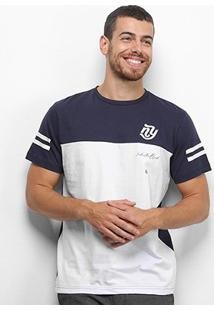 Camiseta Industrie Básica Especial Bicolor Masculina - Masculino-Marinho