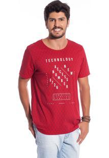 Camisa Manga Curta Bgo Bgm32789-33235 Vermelho