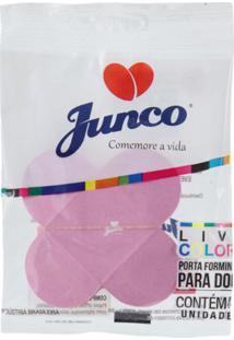 Forma De Papel Junco 4 Pétalas Com 10 Unidades Rosa