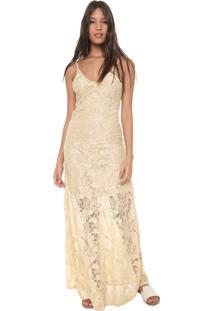 82110e086a Vestido Bege Renda feminino