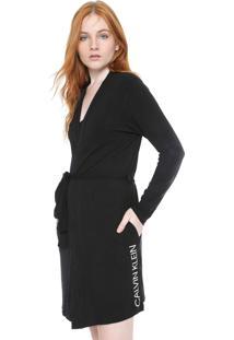 Robe Calvin Klein Underwear Modern Preto