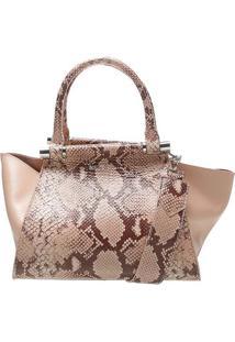 Bolsa Estruturada Textura Animal- Ros㪠& Pretaschutz