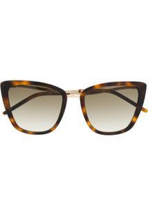 Karl Lagerfeld Óculos De Sol Com Corrente - Marrom