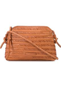 Loeffler Randall Woven Cross Body Bag - Laranja