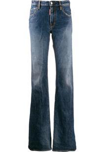 Dsquared2 Calça Jeans Flare Com Efeito Desgastado - Azul