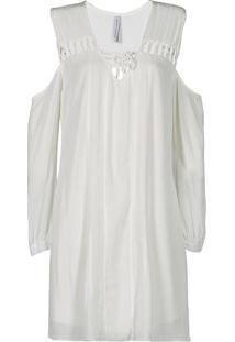 Vestido Branco Curto Canellado