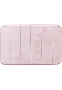 Tapete Para Banheiro Super Soft- Rosê- 60X40Cm- Camesa
