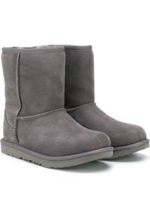 Ugg Australia Kids Ankle Boot Texturizada - Cinza