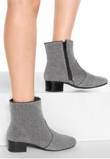 Bota Dafiti Shoes Lurex Prata