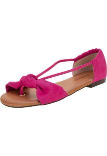 Sandália Feminina Rasteira Moleca - 5419325 Pink 34