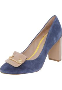 Scarpin Giulia Domna Redondo Azul