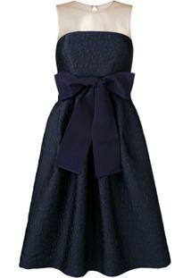 P.A.R.O.S.H. Vestido Com Detalhe De Laço - Azul