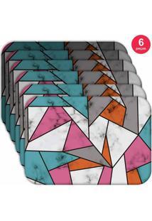 Jogo Americano Love Decor Wevans Marble Texture Color Kit Com 6 Pçs