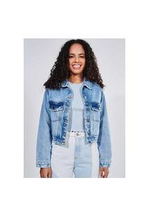 Jaqueta Cropped Jeans Claro