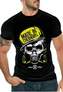 Camiseta Manga Curta Jay Jay Chernobyl Preta