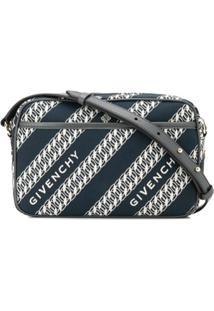 Givenchy Bolsa Transversal Com Estampa De Corrente - Azul
