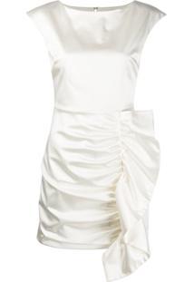 P.A.R.O.S.H. Vestido Alice Com Babados - Branco