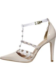 Scarpin Week Shoes Salto Alto Valentino Transparente Verniz Gelo