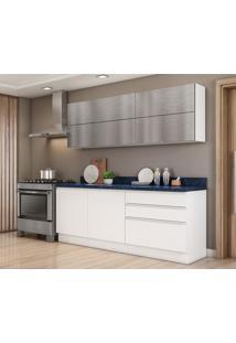 Cozinha Compacta Bbb 6 Pt 3 Gv Branca E Azul