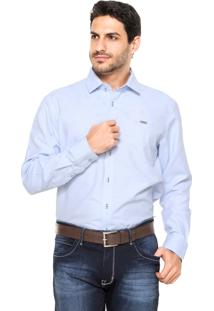 Camisa Mr. Kitsch Texturizada Azul