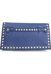 Bolsa Carteira Real Arte Spike Azul Marinho