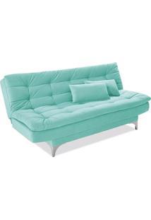 Sofá Cama Casal Prático Verde Tiffany