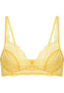 Sutiã Top Renda Love Lace Amarelo