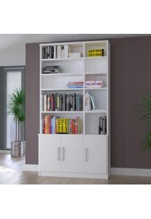 Estante Para Livros 3 Portas 1280 Branco - Foscarini
