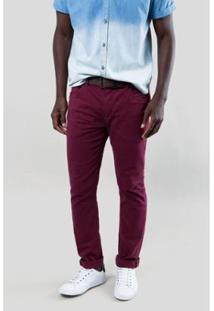 Calça Jeans Reserva Indaiatuba Masculina - Masculino-Bordô
