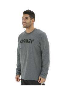 Camiseta Manga Longa Oakley Mark Ii - Masculina - Cinza Escuro