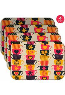 Jogo Americano Love Decor Wevans Xíraca Colorida Kit Com 4 Pçs