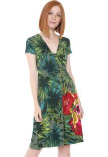 Vestido Desigual Curto Maroni Verde