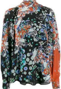 Givenchy Blusa Gola Alta Floral - Vermelho
