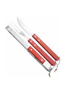 Conjunto De Acessórios Para Churrasco Fork Em Aço Inox Ntk