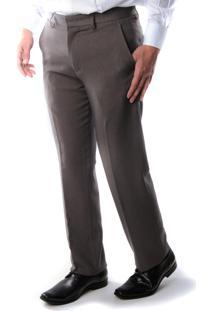 Calça 6191 Social Kaki Traymon Masculina Modelagem Regular