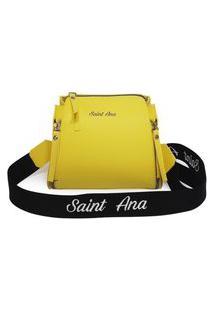 Bolsa Saint Ana Feminina Transversal Pequena Casual Amarelo