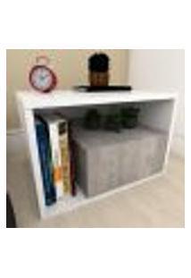 Mesa De Cabeceira Moderna Rústico Com Branco