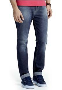 Calça Masculina Hering Em Jeans Regular Com Desgaste
