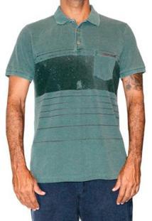 Camiseta Polo Stripe Surf Mormaii Masculina - Masculino