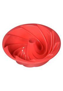 Forma Redonda De Silicone Flexível Antiaderente Com Furo Vazada Para Bolo