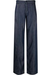 Karl Lagerfeld Calça Jeans Pantalona - Azul