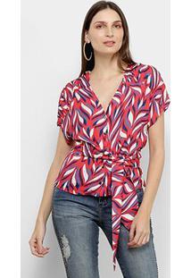 Blusas Morena Rosa Feminino-10000108140 - Feminino-Vermelho+Azul