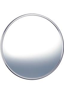 Espelho Para Banheiro Redondo Cristal 39,5Cm Cromado