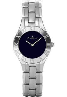 Relógio Analógico Jv03661- Preto & Prateado- Jean Vejean Vernier